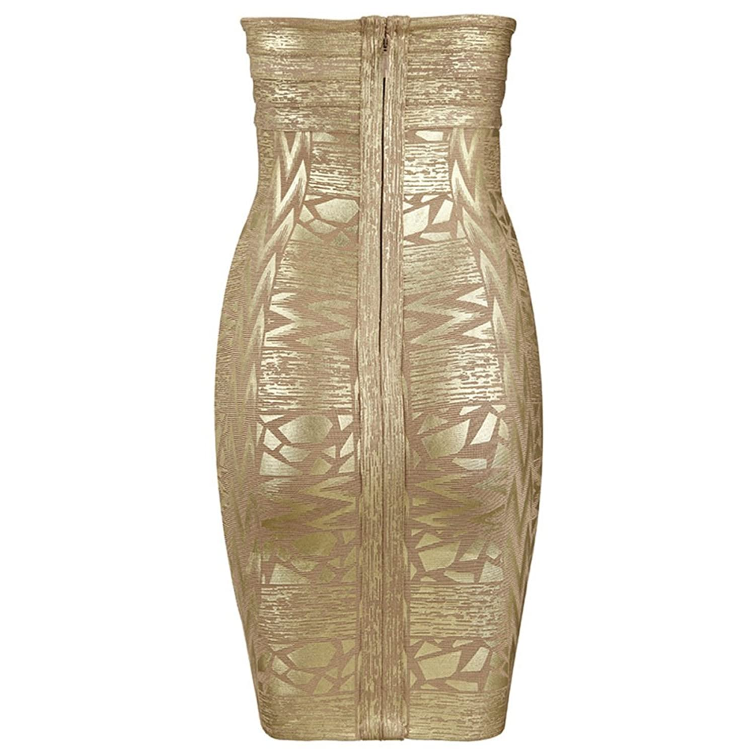 Vivian - Gold Sweetheart Crystal Diamond Embellished Bandage Dress | Gold Bandage Dress Size | Size: XS (Extra Small), S (Small), M (Medium), L (Large) | UK Size: 6, 8, 10, 12