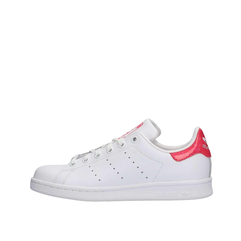 ventas al por mayor oficial zapatos exclusivos adidas Originals Stan Smith J White/Pink Holographic Leather 5 M ...