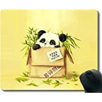 Yanteng Gaming Mouse Pad with Stitched Edge,Species Animal Panda,Mouse Mat,Non-Slip Rubber Base Mousepad for Laptop,Computer