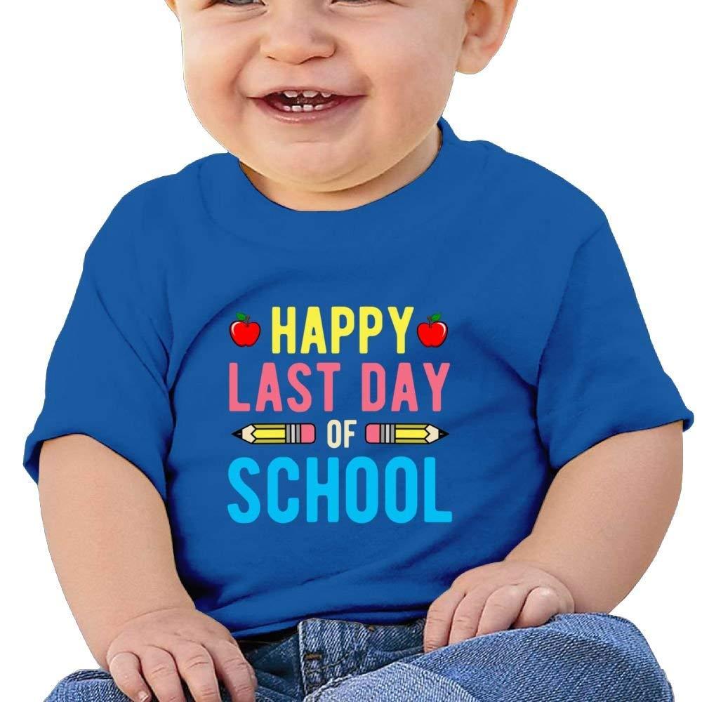 Moniery Cute Short Sleeve T Shirt Happy Last Day 5 Birthday Day Baby Boy Kids
