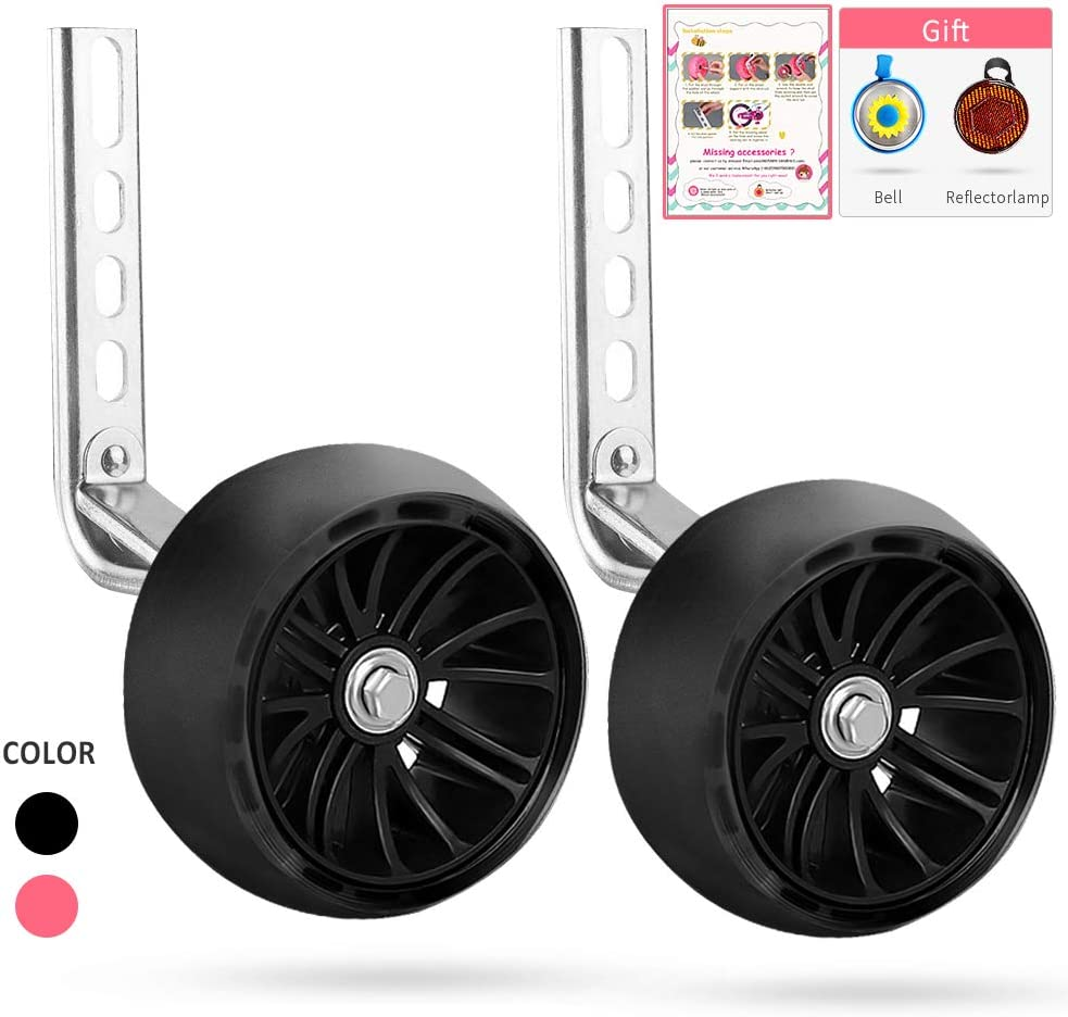 Thicken Bike Training Wheels for Kids Under 70lb with Heavy Duty Stainless Steel for 14 SPORUS Training Wheels 16 Including Mounted Kit 18 Inch