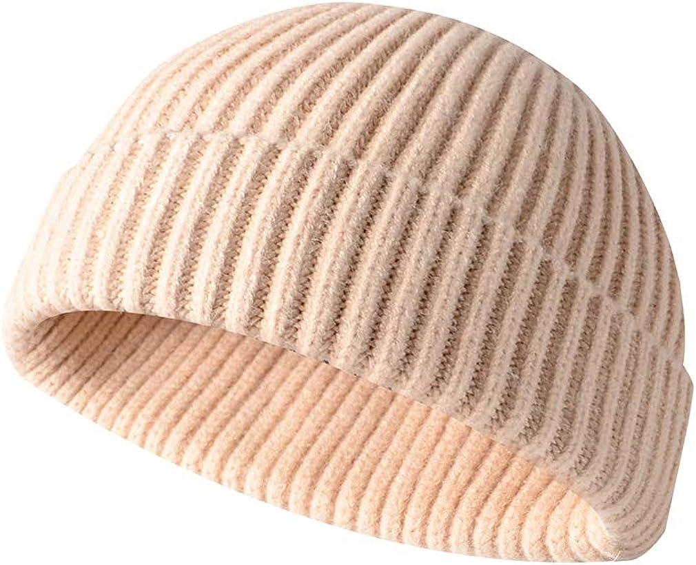 Men Knitted Hat Beanie Skullcap Sailor Cap Cuff Brimless Retro Navy Fashion Warm