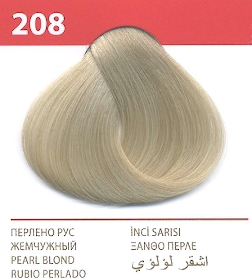 Vips prestige crema colorante para el cabello, color rubio perla 208