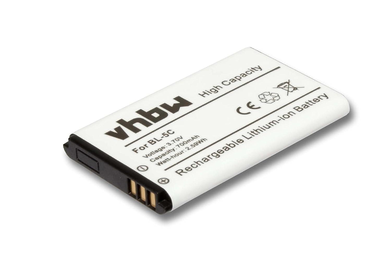 vhbw Li-Ion Batería 700mAh (3.7V) para Babyfon Philips Avent SCD610 como 1ICP06/35/54. VHBW4251358596615
