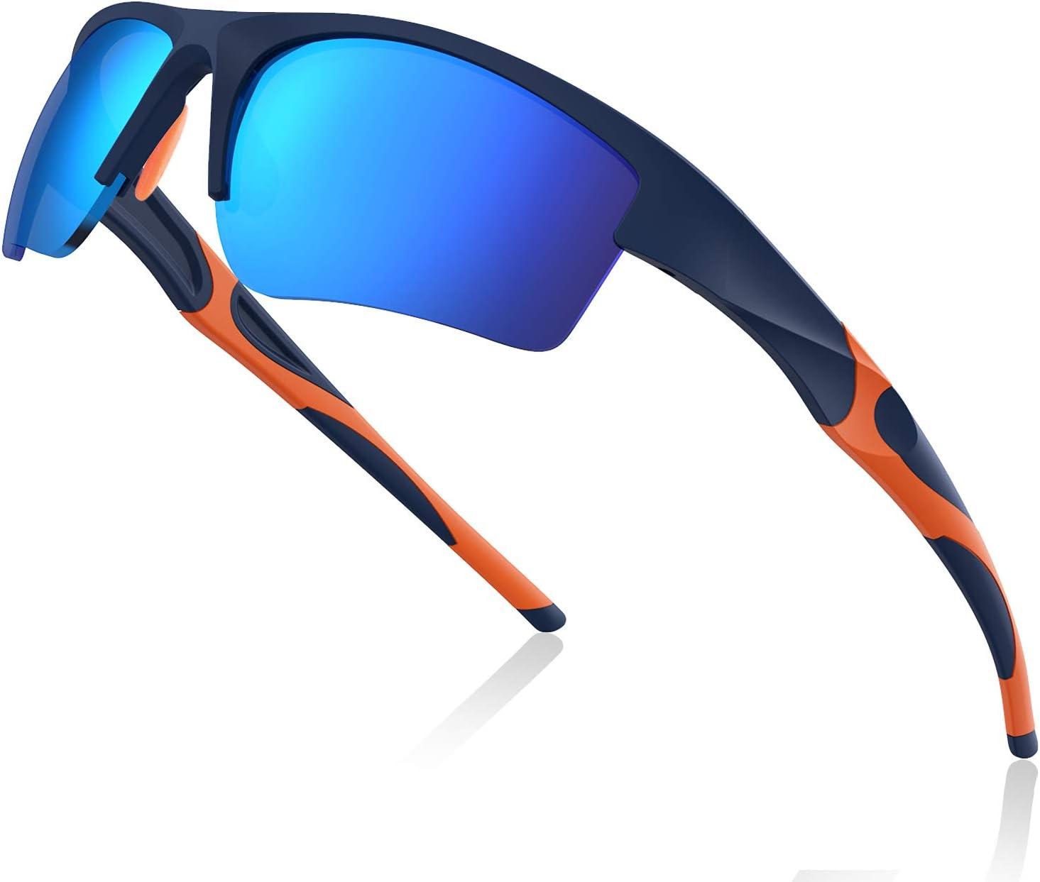 Avoalre Gafas de Sol Deportivas Hombre Gafas Hembra Unisex Conducto no polarizado TR90 Super Light UV400 Protección Certificado CE para Ciclismo MTB Running Coche Moto Montaña