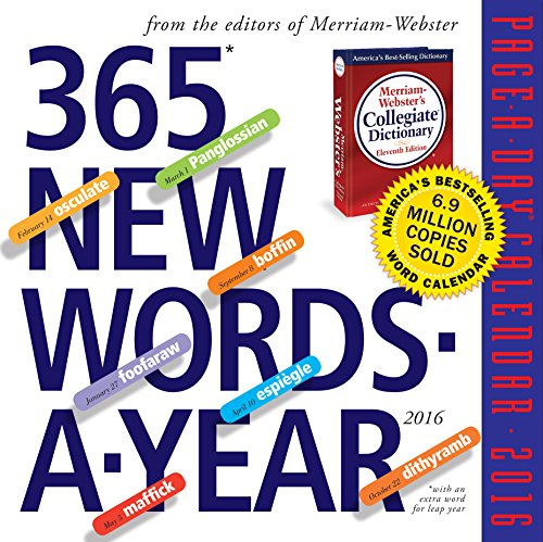 365 New Words-A-Year Page-A-Day Calendar 2016 (2015 Calender Kids)