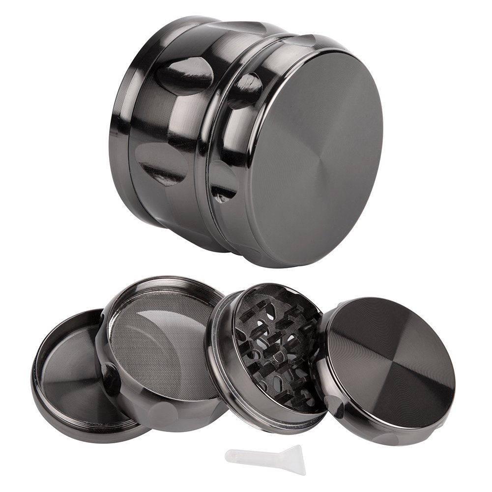 Herb Grinders,Vidillo 4 Pieces 63mm (2.5inches) Premium Aluminum Zinc Alloy Grinder with Sifter and Magnetic Top for Dry Herb and Tobacco