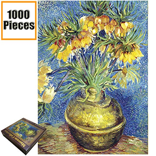 - Jigsaw Puzzles 1000 Pieces Vincent Van Gogh Artwork Art for Teen Adult Grown Up Puzzles Large Size Toy Educational Games Gift Jigsaw Puzzle Jigsaw Puzzle 1000 PCS (Vase with Daisies and Anemones)