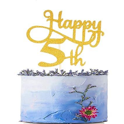 Amazon Happy 5th Birthday Cake Topper