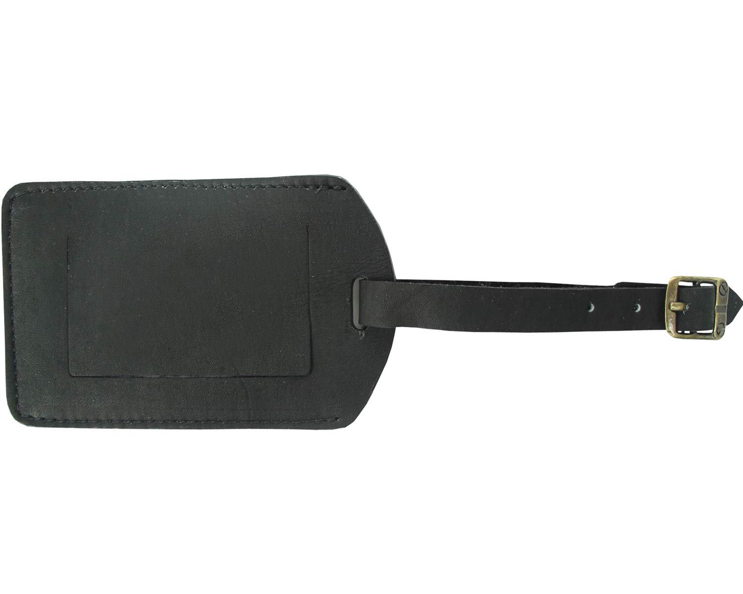 Piel Custom Personalized Leather ID Tag in Black