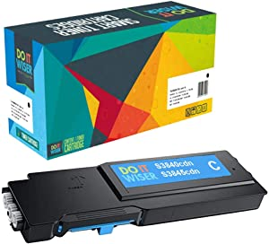 Do it Wiser Compatible Toner Cartridge Replacement for Dell S3840cdn S3845cdn 593-BCBF Cyan Extra High Yield