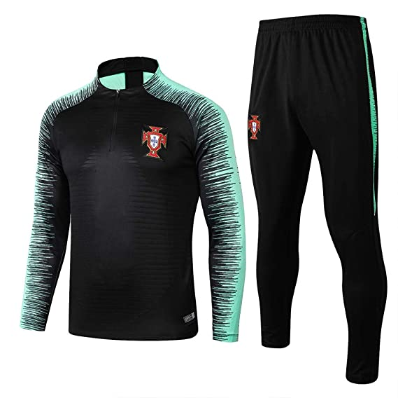 Traje de Entrenamiento de fútbol Traje de Club Camiseta de Manga Larga Uniforme de fútbol Competencia Traje Pantalones Hombres