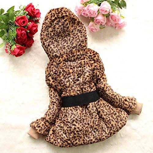 EGELEXY Baby Girls Faux Fur Leopard Hoodies Coat Kids Winter Warm Jacket 3/4T Leopard by EGELEXY (Image #1)