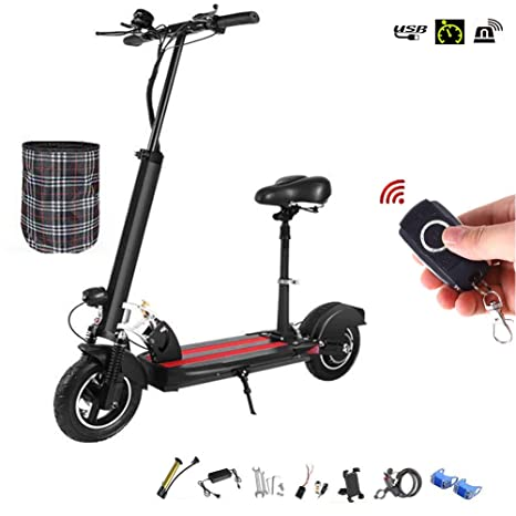 Scooter Eléctrico Patinete Adulto Ajustable Plegable Panel ...