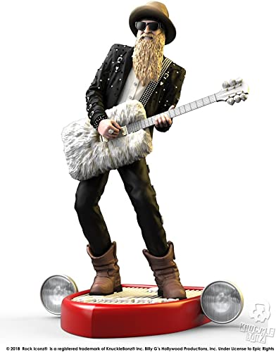 Knucklebonz Billy Gibbons of ZZ Top Limited Edition Collectible Statue – Rock Iconz, Officially Licensed, Includes CoA