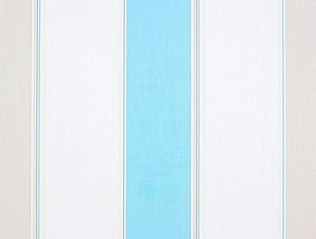 Rasch Perfecto 2015 496819 Non Woven Striped Wallpaper Creambeige