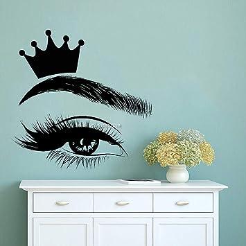 jiushixw Corona Etiqueta de pestañas Pestañas Murales Arte Salón ...