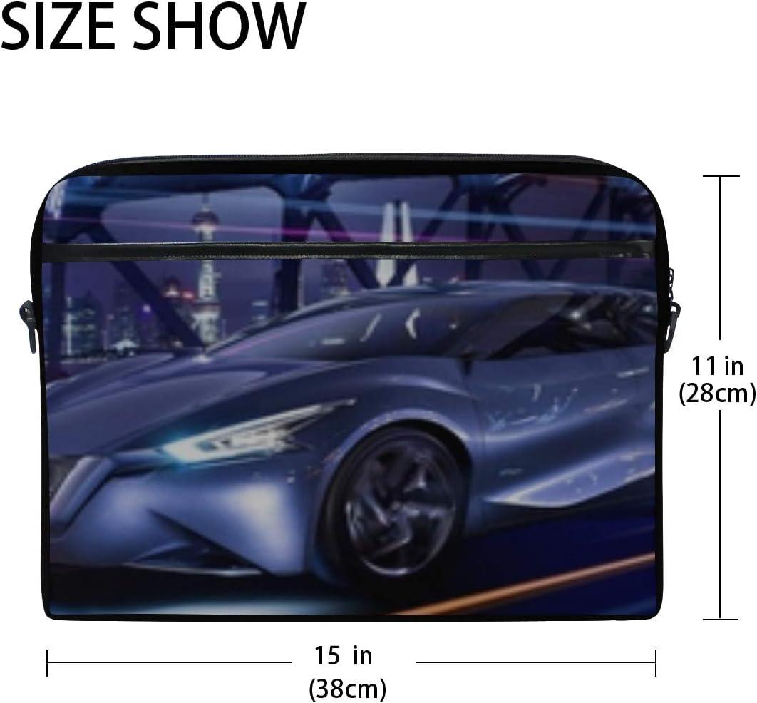 Nissan Friend Me Concept Nissan Concept Laptop Shoulder Messenger Bag Case Sleeve for 14 Inch to 15.6 Inch with Adjustable Notebook Shoulder Strap