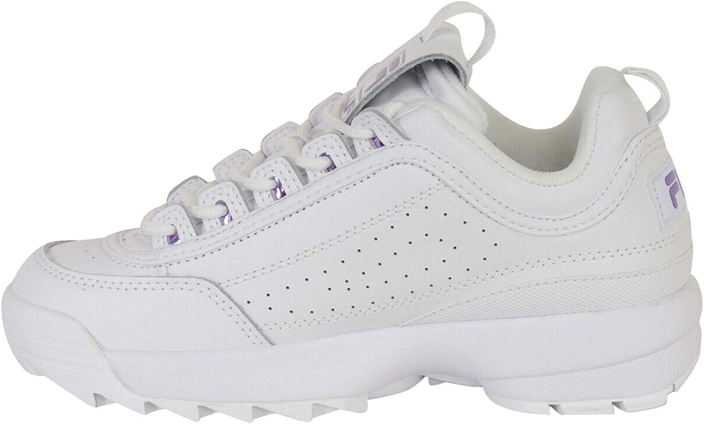 Fila Parent Chaussures de Sport pour Femme Blanc Violet Métallique