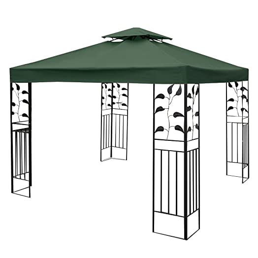 FDS 3Mx3M Gazebo Canopy Replacement Roof Top Pavilion Sunshade Cover 1 Tier 2
