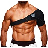 Shoulder Brace for Women and Men Shoulder Stability Support with Pressure Pad for Torn Rotator Cuff Shoulder Pain Injury Relief (Black)