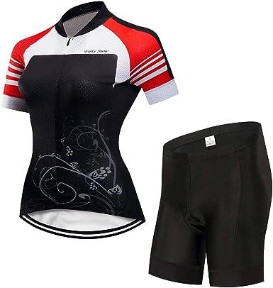 Lilongjiao Jersey de Ciclismo para Mujer Hermosa Bicicleta ...