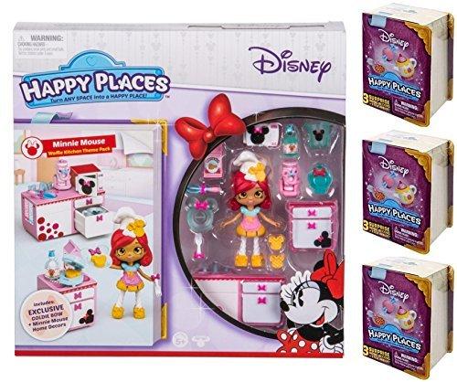 Happy Places Disney Minnie Mouse Waffle Kitchen Theme Pack PLUS 3 Surprise Packs!