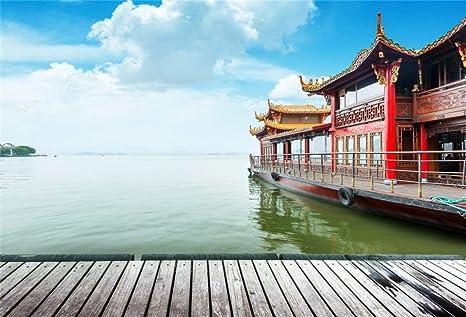 Amazoncom Leyiyi 9x6ft Vintage Chinese Garden Backdrop Summer