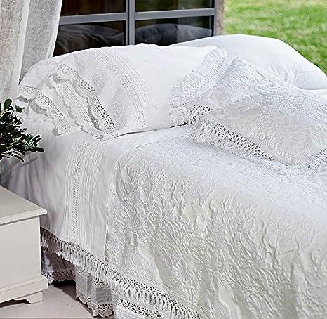 Blanc Mariclo - colcha blanca 260 x 260 cm