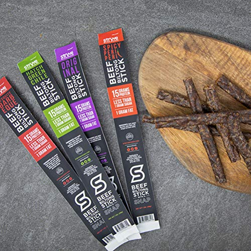 Stryve Biltong, Beef Jerky without the Junky. 14g Protein, Sugar Free, No Carbs, Gluten Free, No Nitrates, No MSG, No Preservatives. Keto and Paleo Friendly. Variety 12-Count