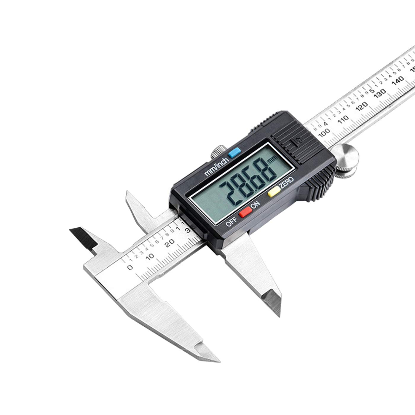 Digital Vernier Caliper Inch Metric Fractions Conversion Stainless Steel