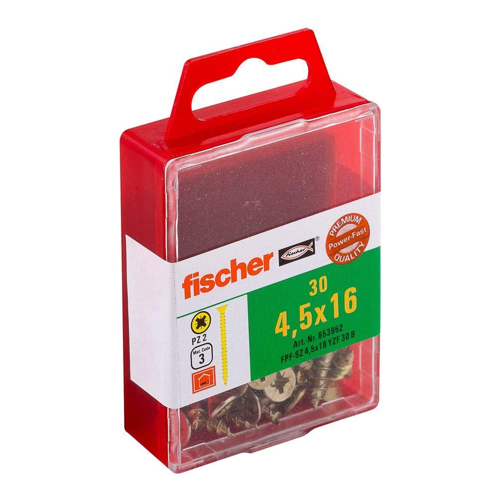 Fischer Power Fast galvanizados senkkop fopf VG PZ Box 4,5/x 16 653952