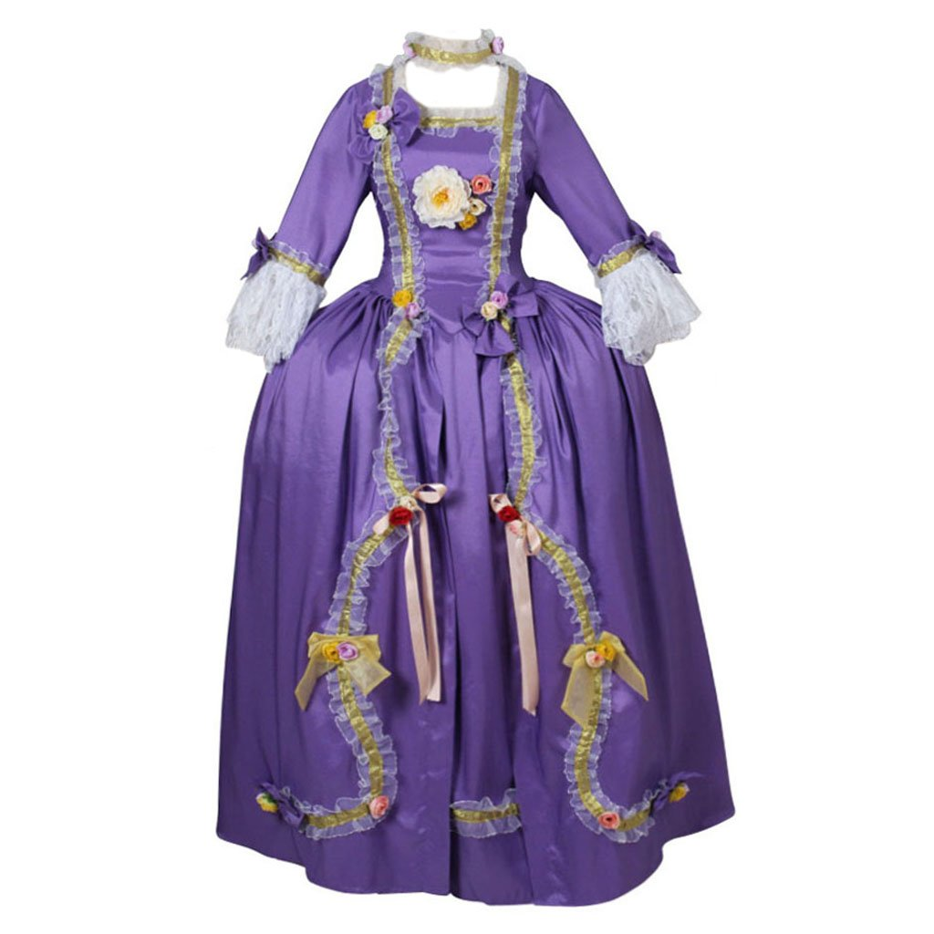 CosplayDiy Women's Rococo Baroque Ball Gown Wedding Purple Dress XXL by CosplayDiy