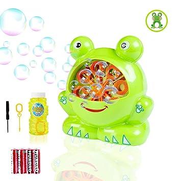 Niños Portátil Morkka Máquina Frog BurbujasSoplador Pompas De Y Fácil Jabón Forma Adultos Usar DuraderoDivertida Shape Para m0nwN8