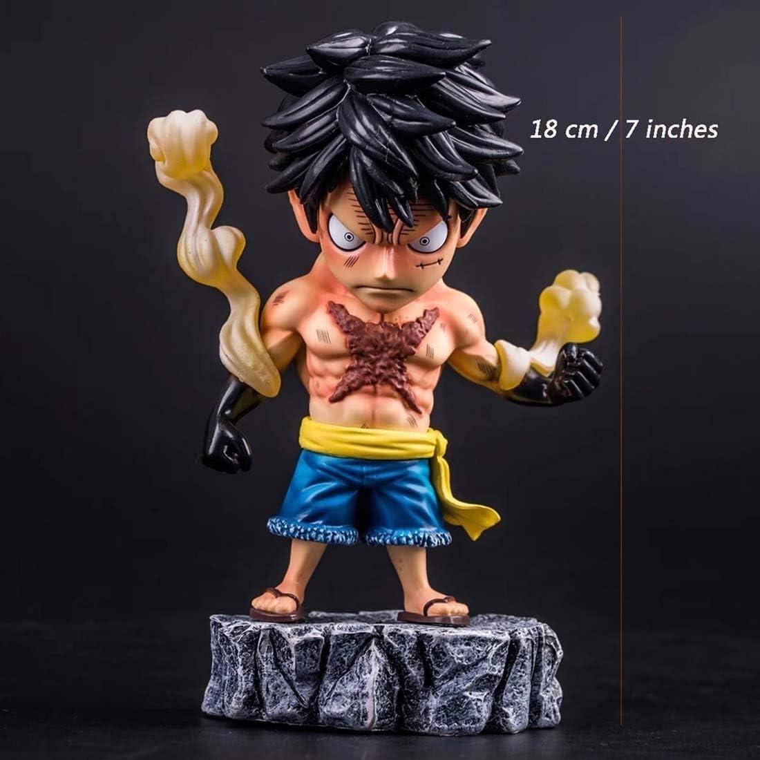 Luffy Figura AXZXC Anime Figura Tatuaje Luffy One Piece 18 Cm / 7 ...