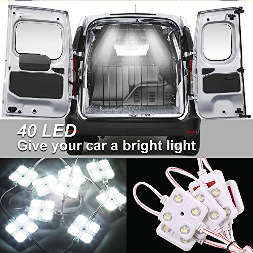 Interior Led Lights,LEELEBERD Injection Modules 40 LEDs White LED Ceiling Light Led Truck Light Kit Waterproof Van Cargo Lighting For Decorative LWB Boats Caravans Trailers Pickup Truck
