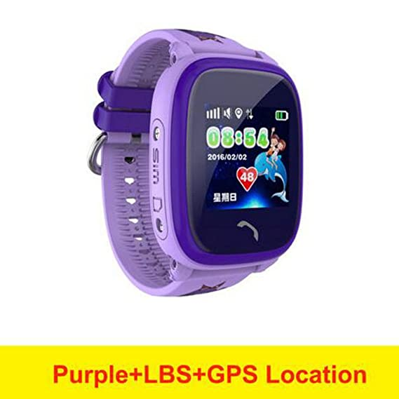 Amazon.com: GUANSHAN Child Smartwatch IP67 Swim GPS Touch ...