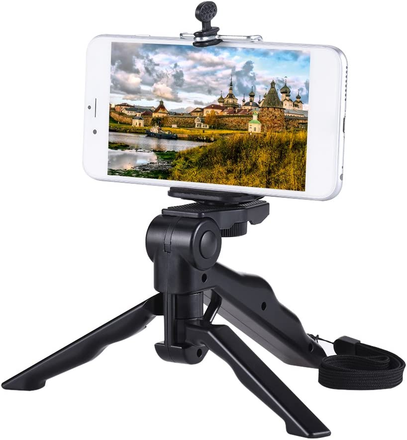 2 in 1 Hand Pistol type Table stand holder Hand held Mini Tripod for GoPro Hero 3 plus and Digital DSLR Camera