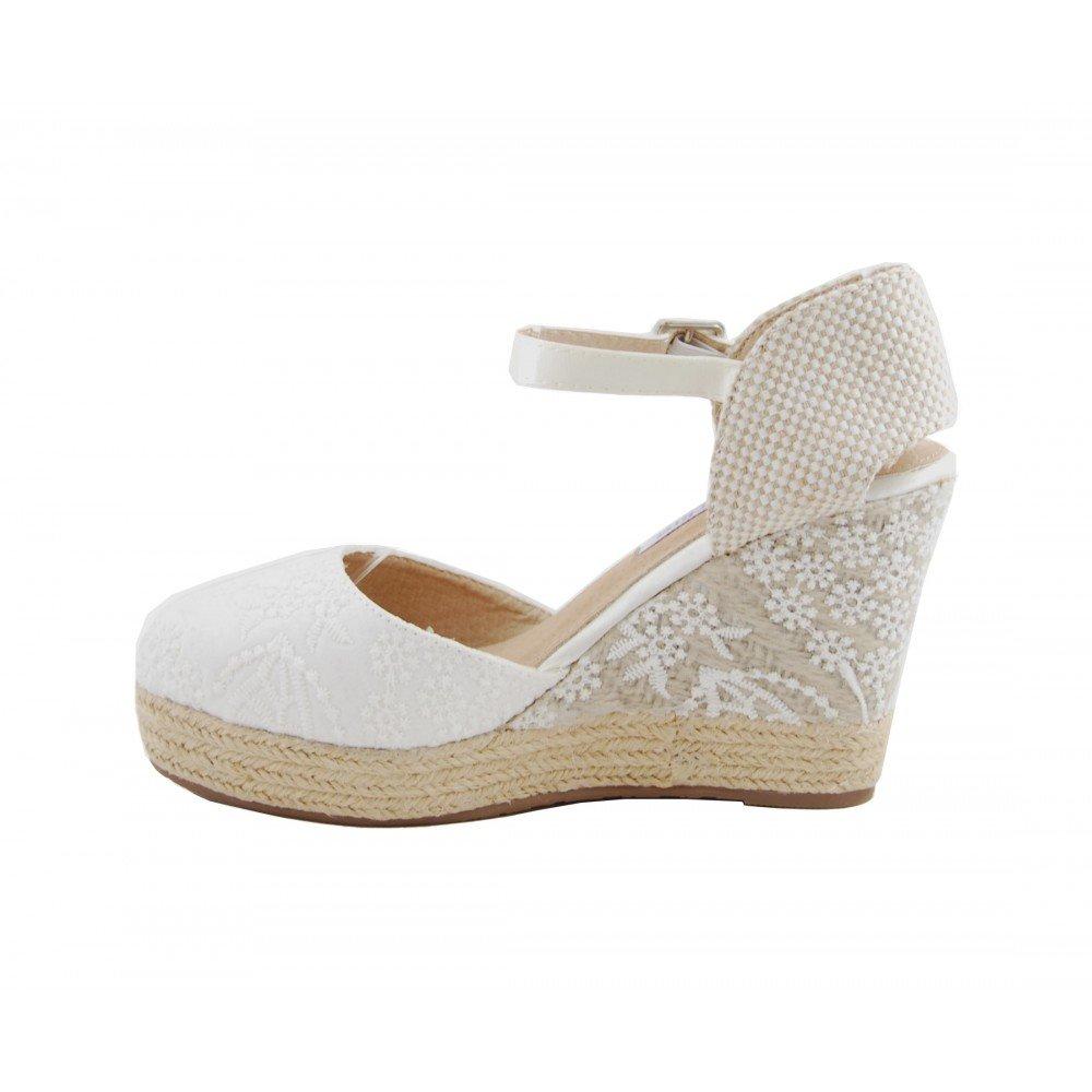 Benavente Cuña de Esparto Novia Blanco: Amazon.es: Zapatos y complementos