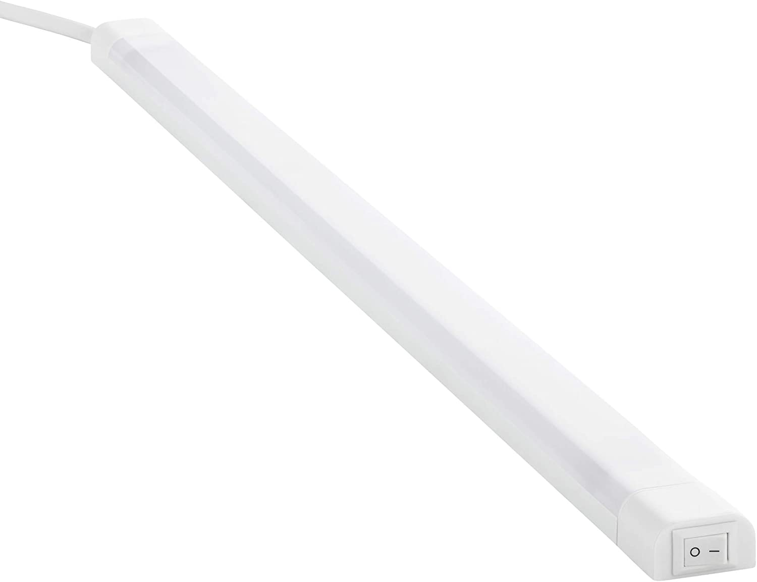 SEBSON® LED bajo mueble 50cm, Tiras de luz con enchufe e interruptor, blanco neutro 4000K, 4W Equivale de 25W, 560 Lumen, 230V, IP20, 24x13x500mm
