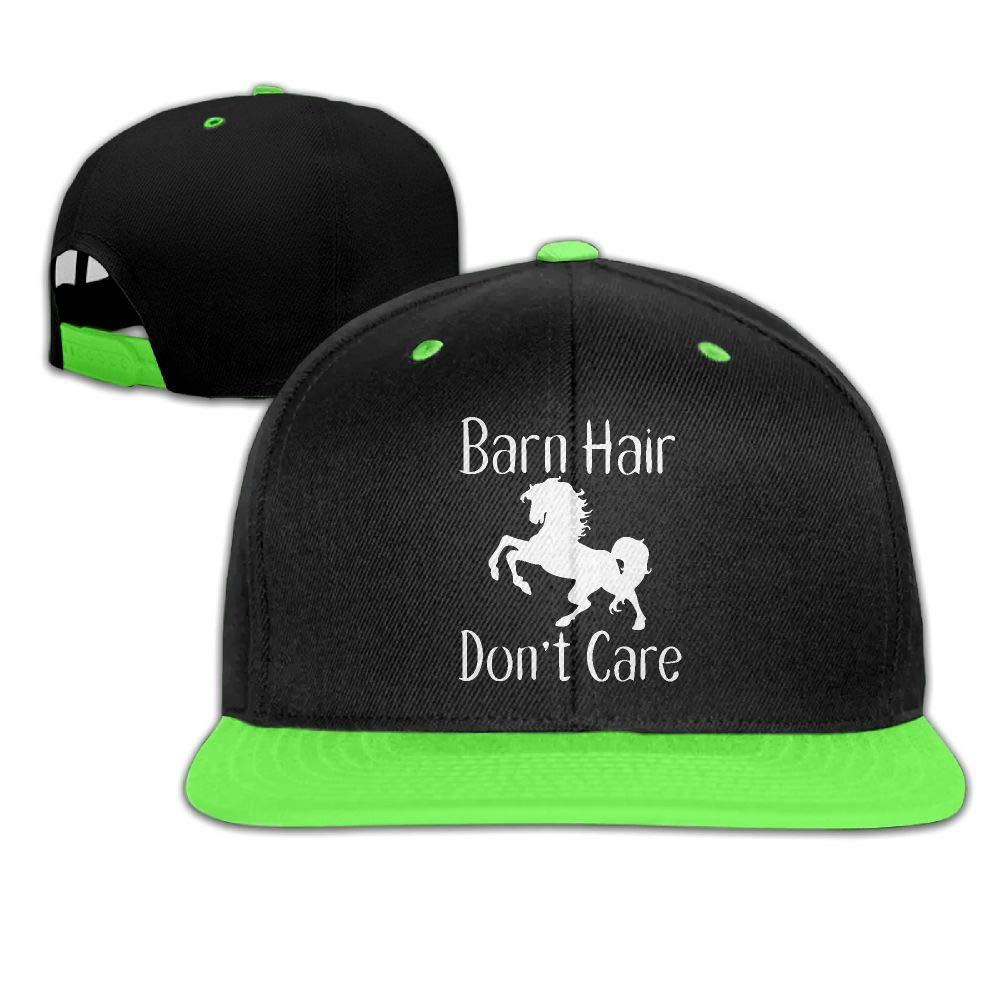 HERSTER Childrens Boys/&Girls Barn Hair Dont Care-1 Baseball Cap Hats Snapback Flatbrim Cap