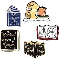 JONERISE 5 Pcs Enamel Brooch Pin Set Cute Cartoon Brooches Lapel Pins Badge for Kids Children Jean Bag Clothes…