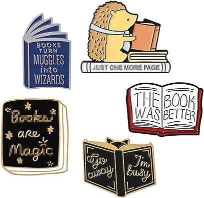 Amazon.com: 5 Pcs Enamel Brooch Pin Set Cute Cartoon Brooches Lapel Pins  Badge for Kids Children Jean Bag Clothes Decoration: Clothing