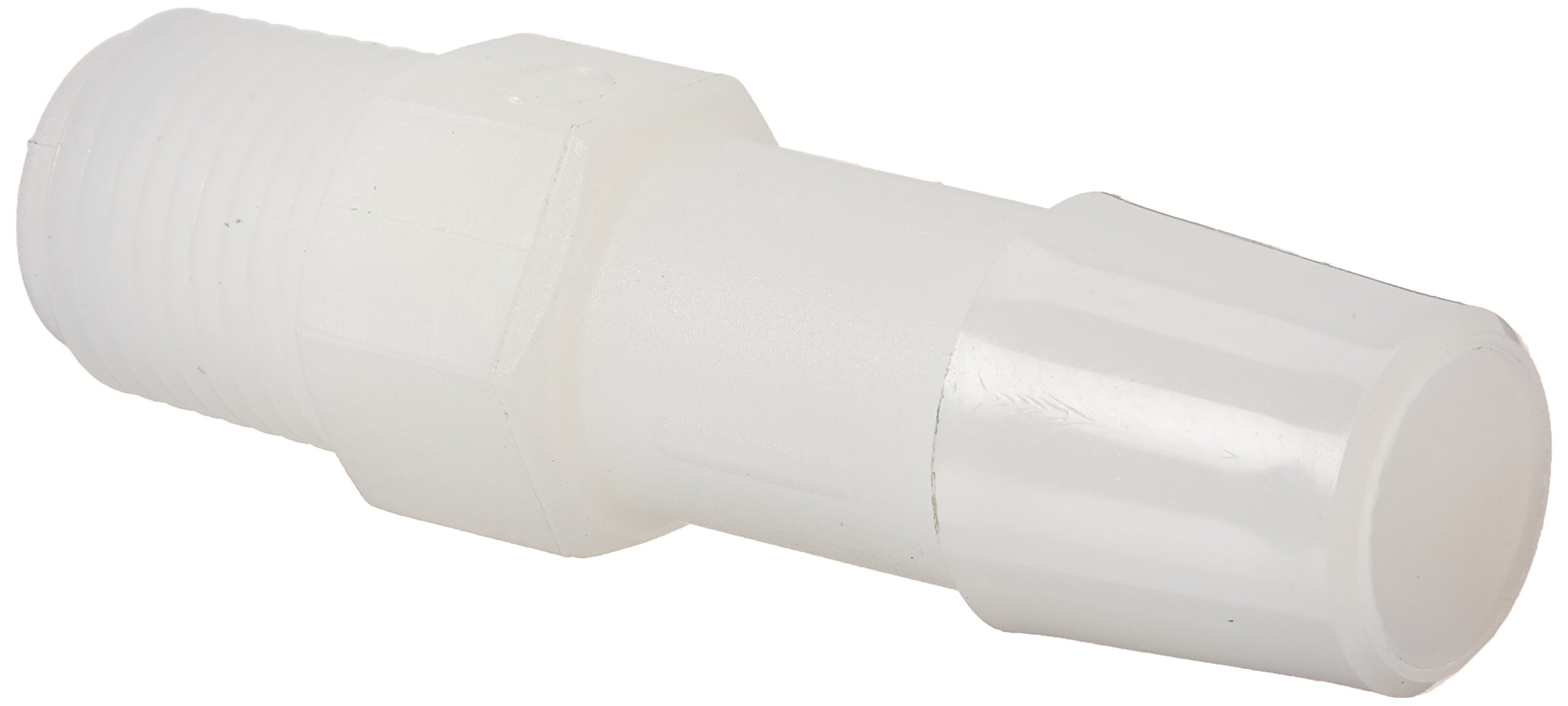Eldon James A2-6NN Natural Nylon Adapter Fitting, 1/8-27 NPT to 3/8'' Hose Barb (Pack of 10) by Eldon James