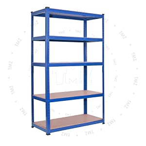 (1800 x 900 x 400)mm heavy duty boltless metal steel shelving shelves storage unit Industrial BLUE