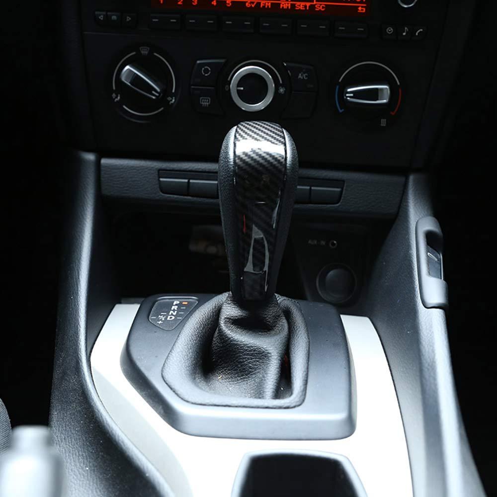 2012 accessori DIYUCAR Copri leva del cambio in fibra di carbonio ABS per E90 E92 E93 E87 Serie 3 2005