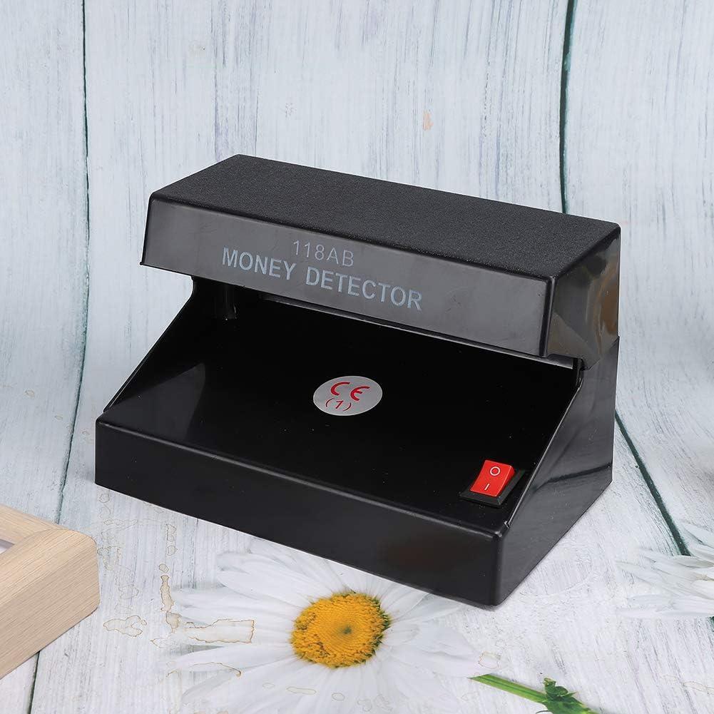 interruptor de un bot/ón Dise/ño de amplio alcance F/ácil de observar con precisi/ón Ni/ños para monedas extranjeras Estudiantes Ancianos Detector de dinero UV comprobador de billetes falsos