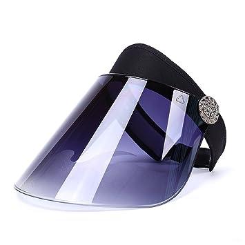 ViewHuge - Sombreros de Visera Vacíos de plástico PVC Transparente Color  Caramelo para Sombrero de Sol de ... c7ee0033a92