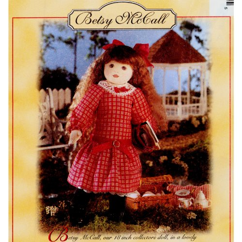 """McCall's Crafts #7933 Betsy McCall 18"""" Doll With Clothes Sewing Pattern"""