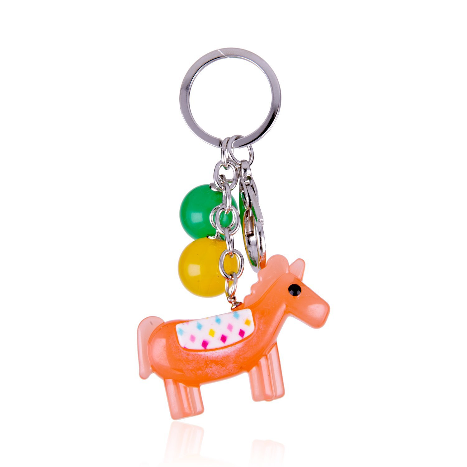 Amazon.com: I de plata tono Lucky Unicorn con Candy Color ...